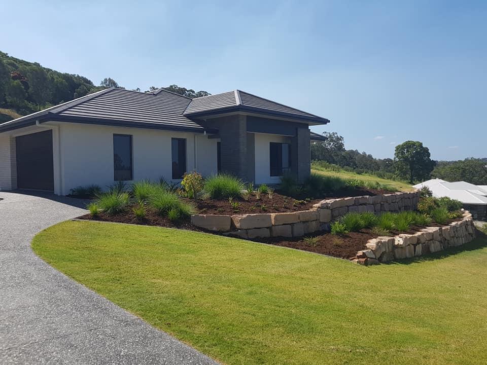 Landscaping slope garden Montego Hills Kingsholme Gold Coast